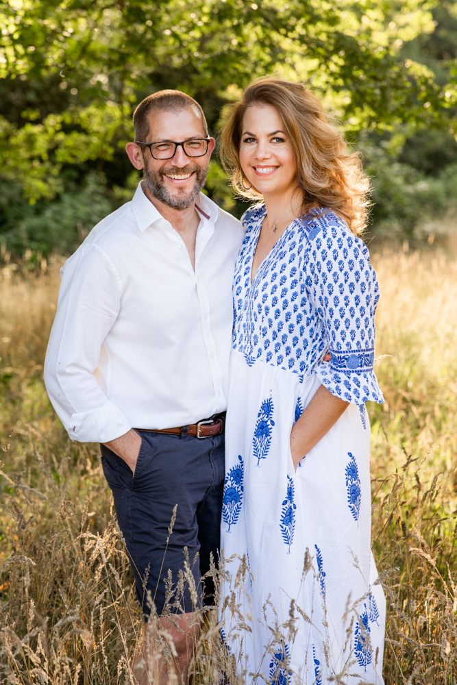 Couple on Family photoshoot in Esher