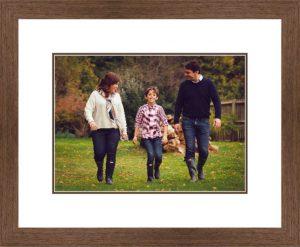 Autumn bespoke family photoshoot framing