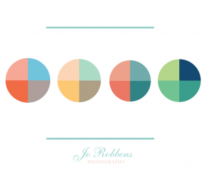 Spring pastel colour swatches