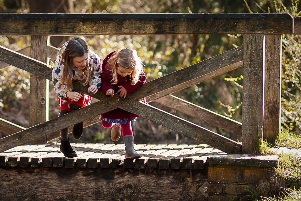 Natural autumn family photography in Surrey