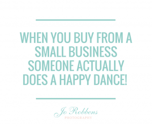 When you buy from a small business